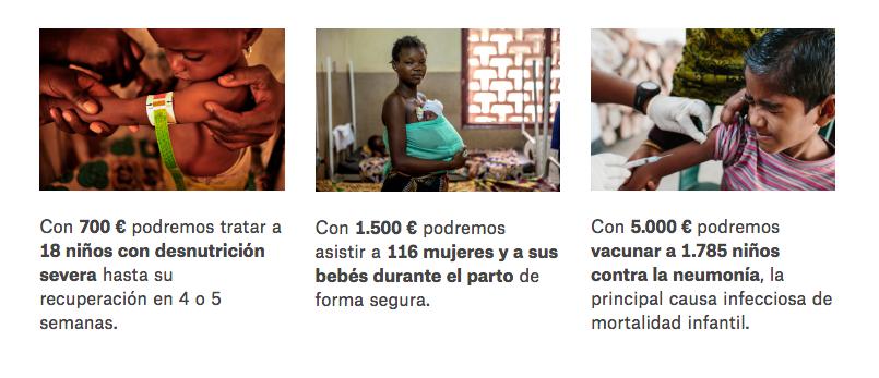 regalo solidario Médicos sin Fronteras