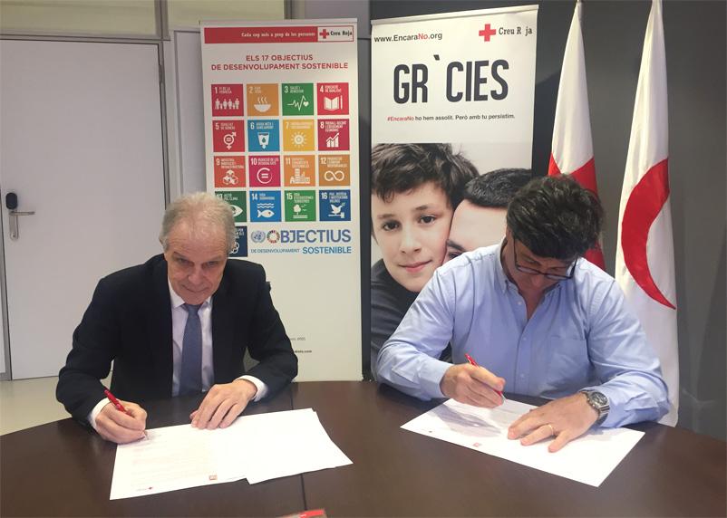 signatura conveni Trac Creu Roja